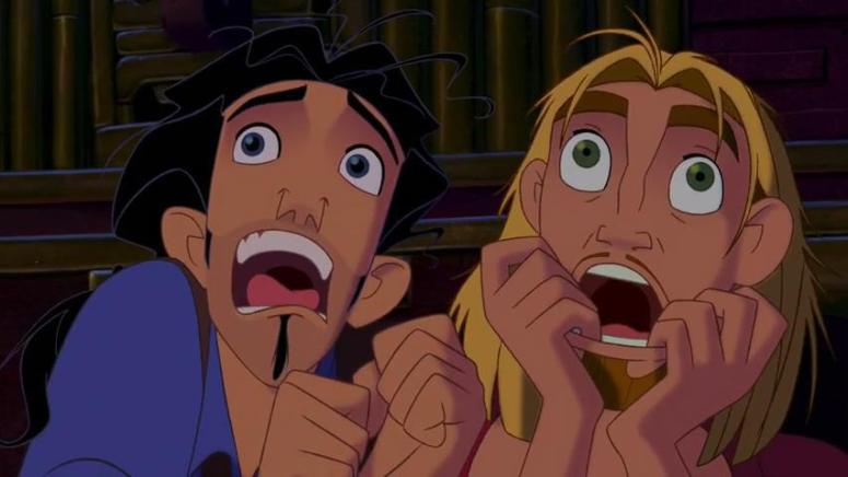 Miguel_and_Tulio_screaming_like_little_girls